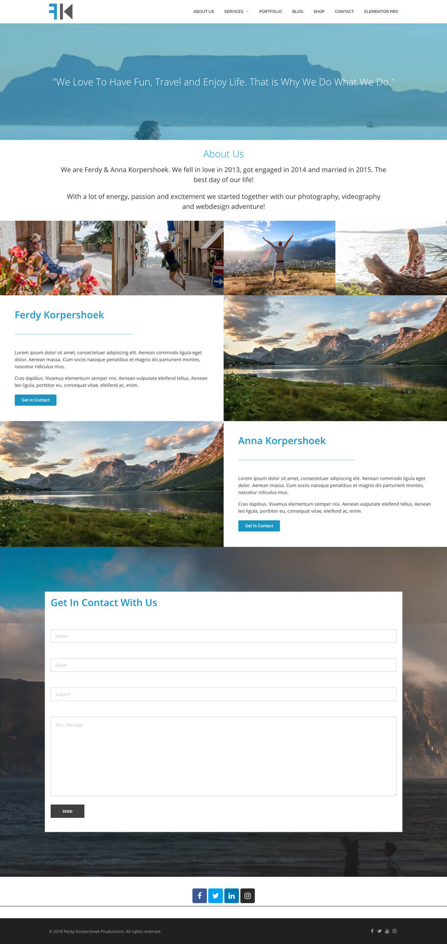 Complete Pages Elementor Templates