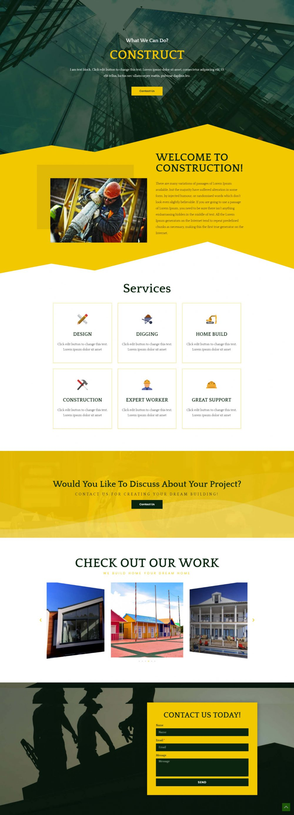 Construct Page